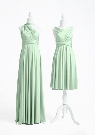 BMbridal Light Green Multiway Ruffles Infinity A-Line Bridesmaid Dresses_2