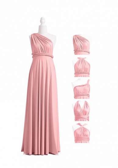 BMbridal Blushing Pink Multiway Ruffles Infinity A-Line Bridesmaid Dresses_4