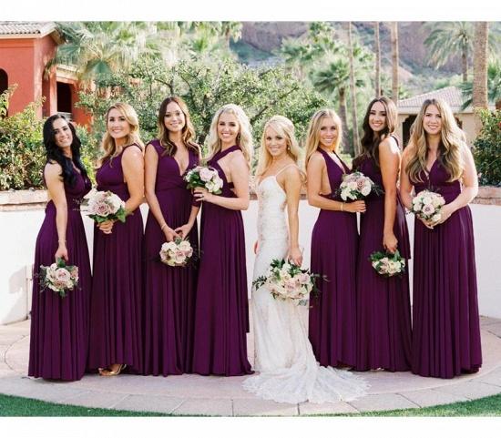 BMbridal Sleeveless Purple Multiway Infinity Bridesmaid Dress_2