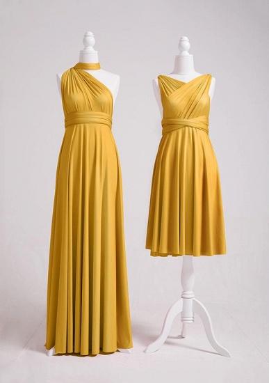 BMbridal Mustard Multiple A-Line Bridesmaid Dresses Long_2