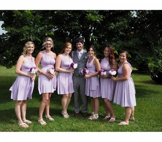 BMbridal Sleeveless Light Purple Multiway Infinity Bridesmaid Dress_4