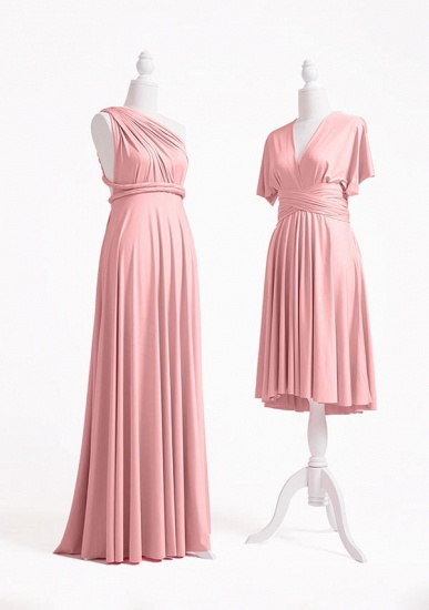BMbridal Blushing Pink Multiway Ruffles Infinity A-Line Bridesmaid Dresses_3