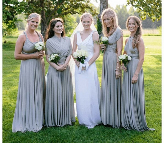 BMbridal Silver Multiway Infinity Bridesmaid Dress_3