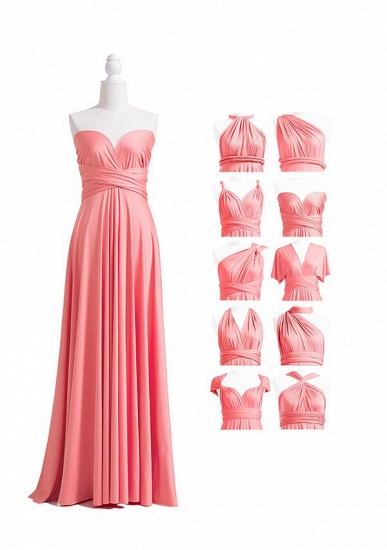 BMbridal Coral Multiway Ruffles Infinity A-Line Bridesmaid Dresses_4