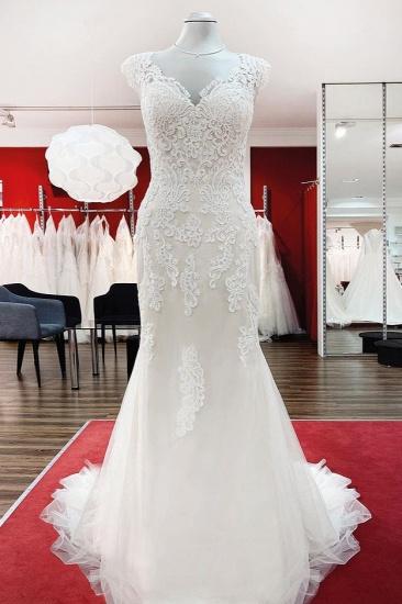 BMbridal Ivory Sweetheart Lace Mermaid Wedding Dresses