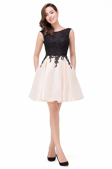 BMbridal Short A Line Applique Tutu Prom Party Dress_7