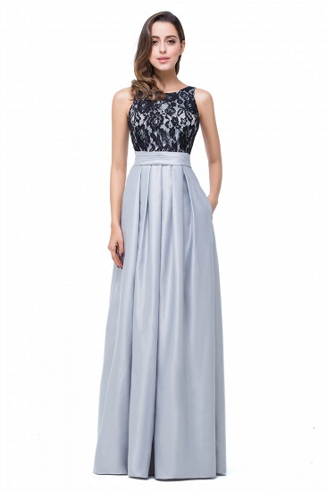BMbridal Simple A-line Crew Chiffon Open Back Lace Bridesmaid Dress
