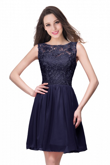 Affordable Chiffon Lace Short Bridesmaid Dresses with Ruffle In Stock_6