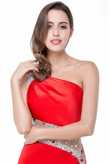 BMbridal Crystal Beading One-shoulder Short Mermaid Prom Dress_13