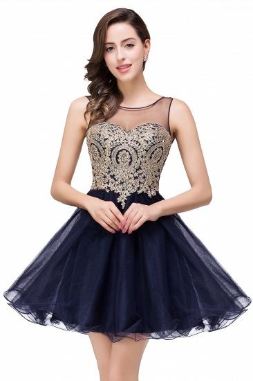 BMbridal Short A-line Sleeveless Little Black Dress Online_5