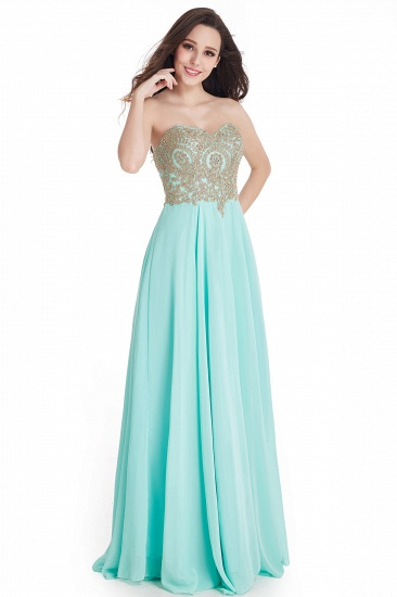 BMbridal Women's Strapless Embroidery Beaded Prom Formal Dress_6