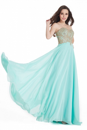 BMbridal Women's Strapless Embroidery Beaded Prom Formal Dress_7