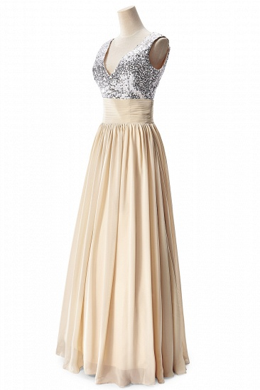 BMbridal A-line V-neck Chiffon Party Dress With Sequined_9