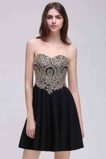 BMbridal Black Short A-line Homecoming Dress_3