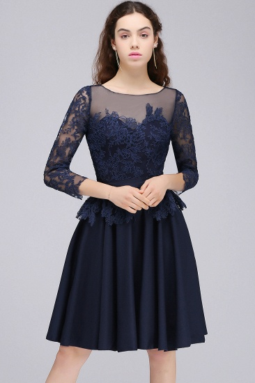 BMbridal Dark Navy A-line Homecoming Dress