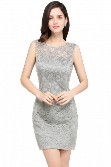 BMbridal Sleeveless Bodycon Black Lace Short Sexy Cocktail Dress_5