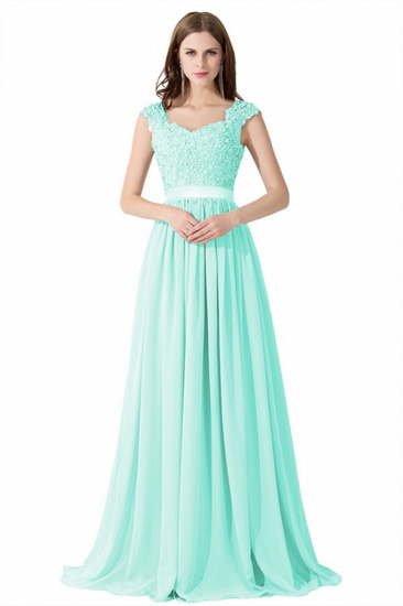 BMbridal A-line V Neck Chiffon Bridesmaid Dress with Appliques_13