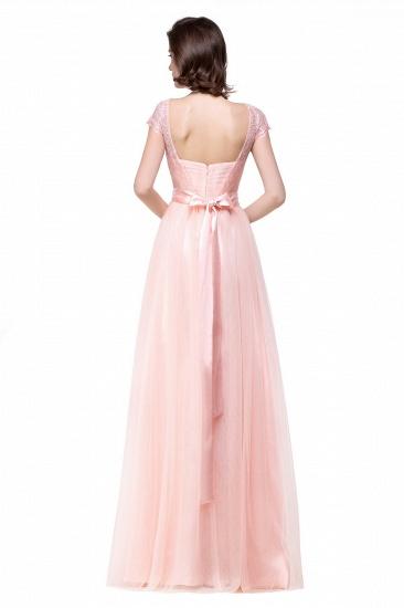 BMbridal Short Sleeve Long Lace Bridesmaid Dresses_7
