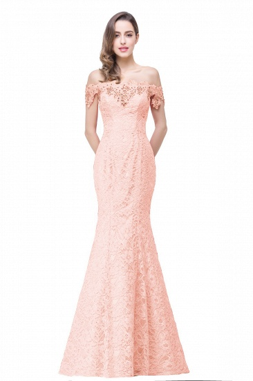 Off-the-Shoulder Lace Mermaid Prom Dress Long Evening Party Gowns Online_3