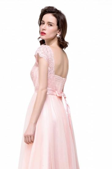 BMbridal Short Sleeve Long Lace Bridesmaid Dresses_9
