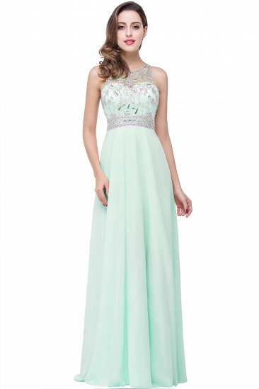 BMbridal A-line Jewel Chiffon Prom Dress with Beading_1