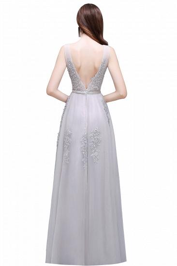 BMbridal V-Neck Sleeveless Lace Appliques Bridesmaid Dress_11