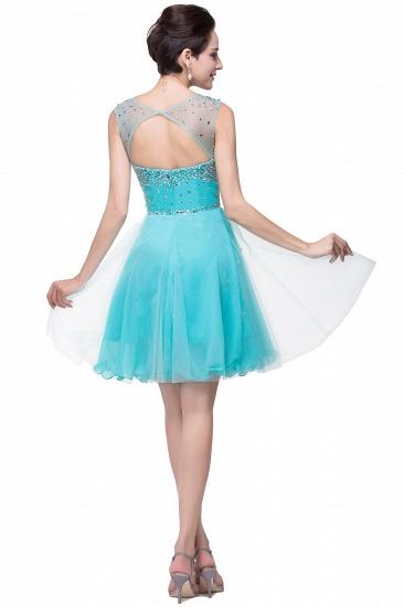 BMbridal Open Back Sleeveless Chiffon Homecoming Dress Crystal Beads Tulle Short Prom Dress_8