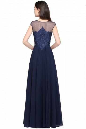BMbridal Cap Sleeve Lace Appliques Long Chiffon Evening Dress_6
