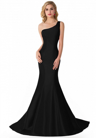 BMbridal One Shoulder Red Mermaid Long Party Gowns_3