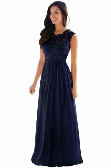 BMbridal Elegant Sheath Crew Sleeveless Lace Top Chiffon Bridesmaid Dress_10