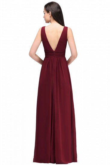 BMbridal Affordable Burgundy Chiffon Long Burgundy Bridesmaid Dress In Stock_5