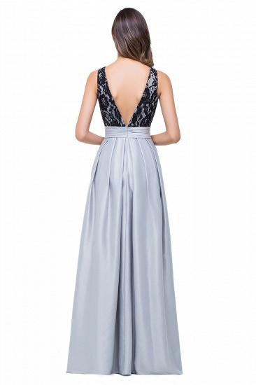 BMbridal Simple A-line Crew Chiffon Open Back Lace Bridesmaid Dress_4