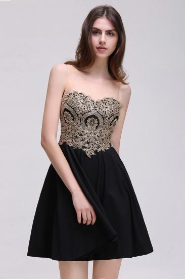 BMbridal Black Short A-line Homecoming Dress_5