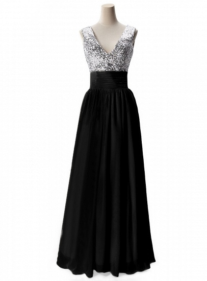 BMbridal A-line V-neck Chiffon Party Dress With Sequined_4