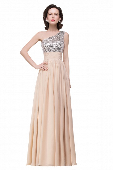 BMbridal A-line Floor-length Chiffon Evening Dress with Sequined_3