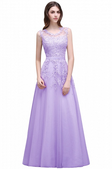 BMbridal A-line Floor-length Tulle Prom Dress with Appliques_4