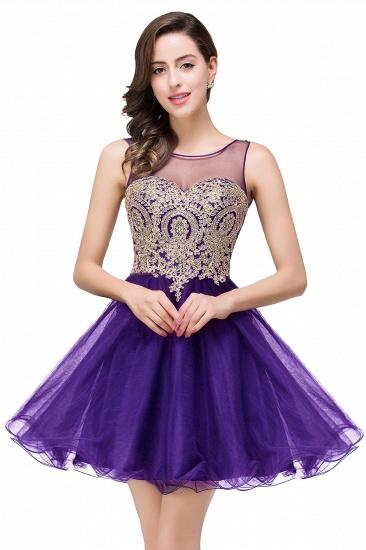 BMbridal Short A-line Sleeveless Little Black Dress Online_2