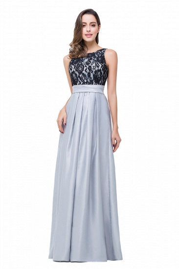 BMbridal Simple A-line Crew Chiffon Open Back Lace Bridesmaid Dress_1