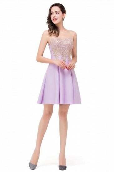 BMbridal Short Applique Sleeveless Prom Homecoming Dress_9