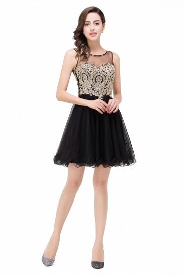 BMbridal Short A-line Sleeveless Little Black Dress Online_7