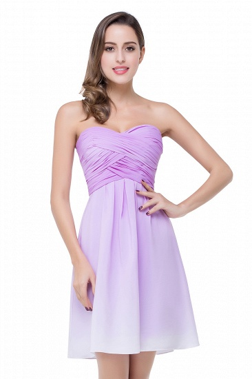 BMbridal A-line Strapless Chiffon Bridesmaid Dress with Draped_2