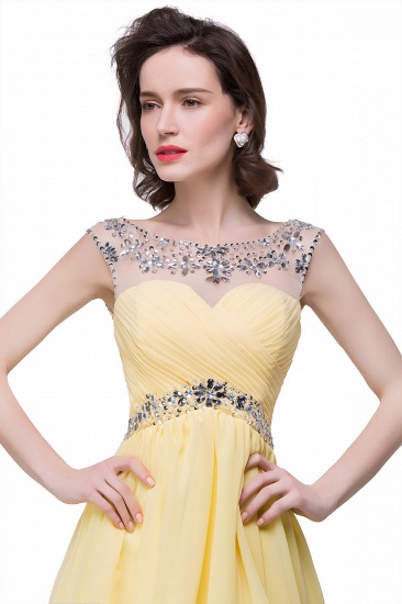 BMbridal A-line Jewel Chiffon Party Dress With Crystal_3
