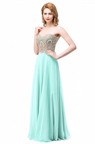 BMbridal Women's Strapless Embroidery Beaded Prom Formal Dress_4