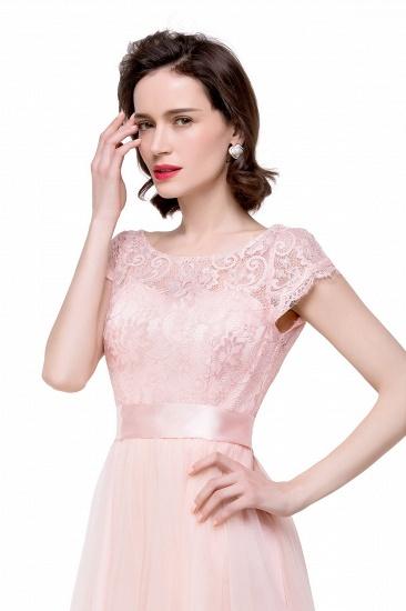 BMbridal Short Sleeve Long Lace Bridesmaid Dresses_8