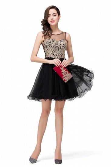 BMbridal Short A-line Sleeveless Little Black Dress Online_10
