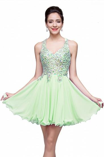 BMbridal Chic Crisscross-straps Crystal Beads Ruffle Chiffon Sweetheart Short Prom Dress_6