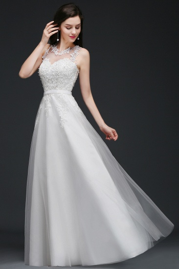 BMbridal A-Line Sleevelss Long Prom Dress With Lace Appliques_8