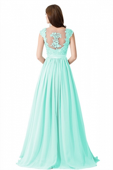 BMbridal A-line V Neck Chiffon Bridesmaid Dress with Appliques_14