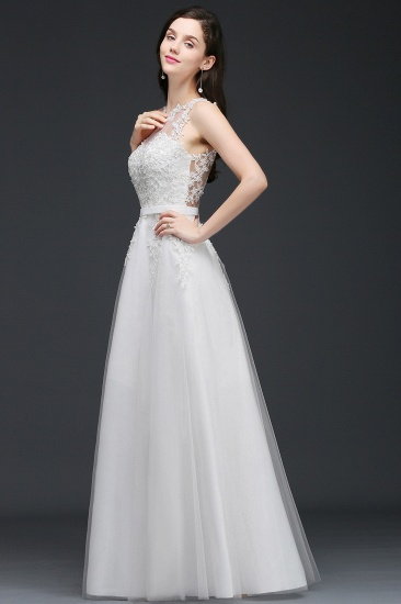BMbridal A-Line Sleevelss Long Prom Dress With Lace Appliques_7
