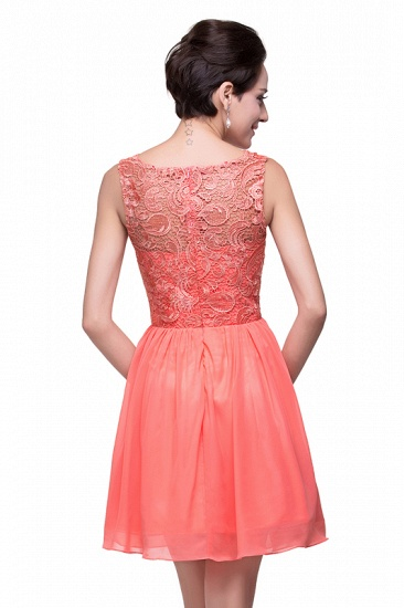 Affordable Chiffon Lace Short Bridesmaid Dresses with Ruffle In Stock_11